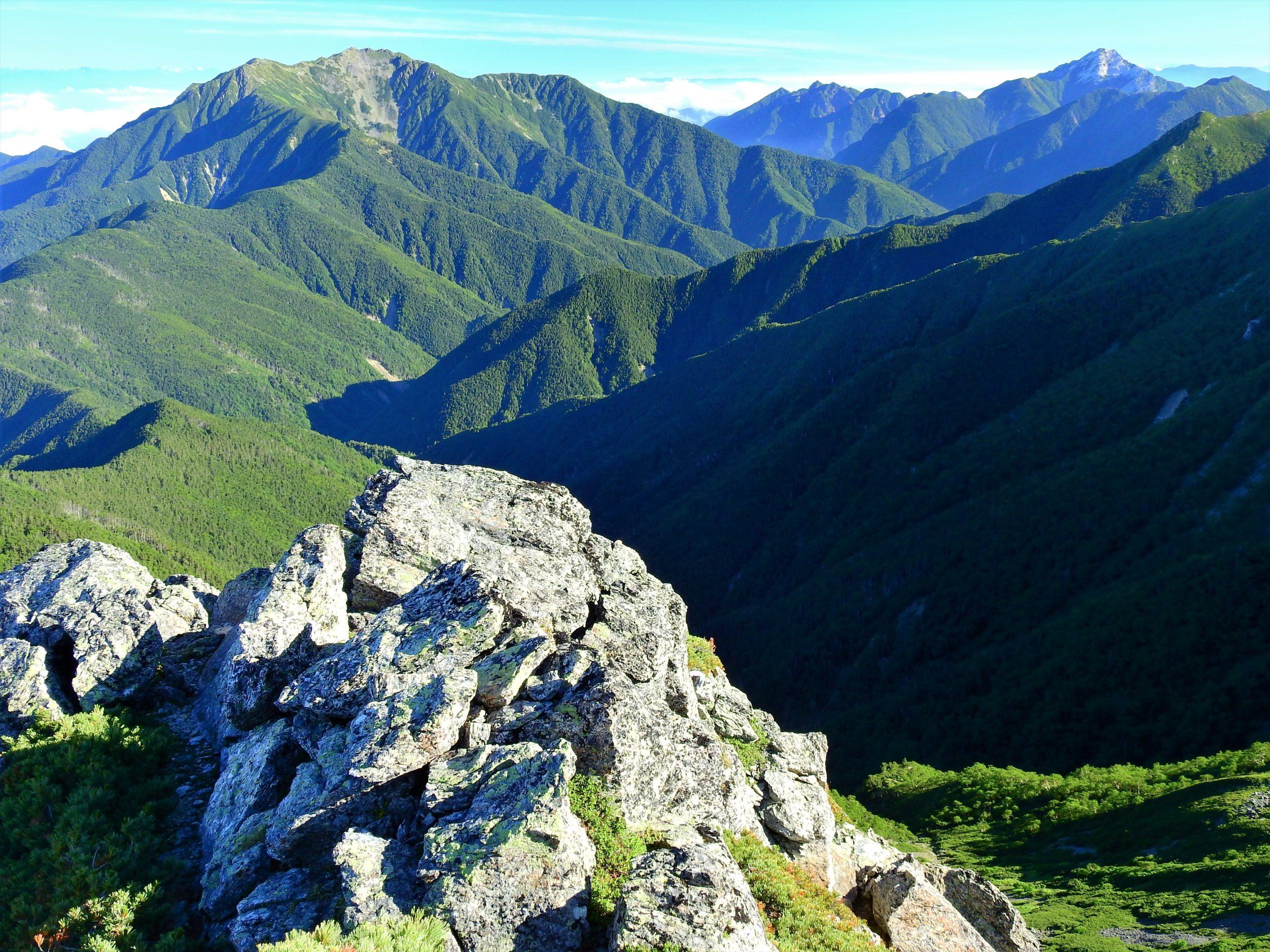 南アルプス 三峰岳