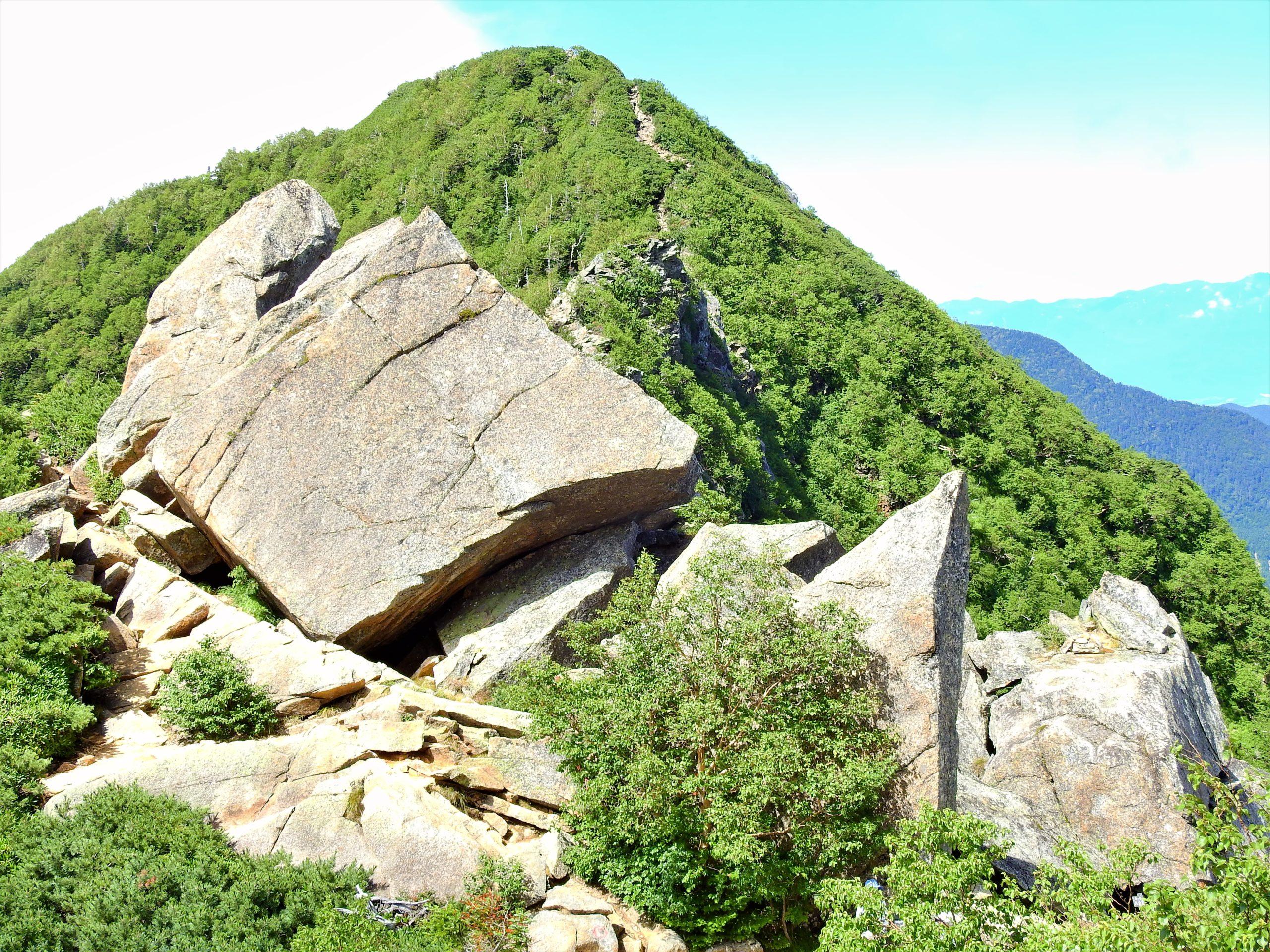 南アルプス 甲斐駒ヶ岳 六方石