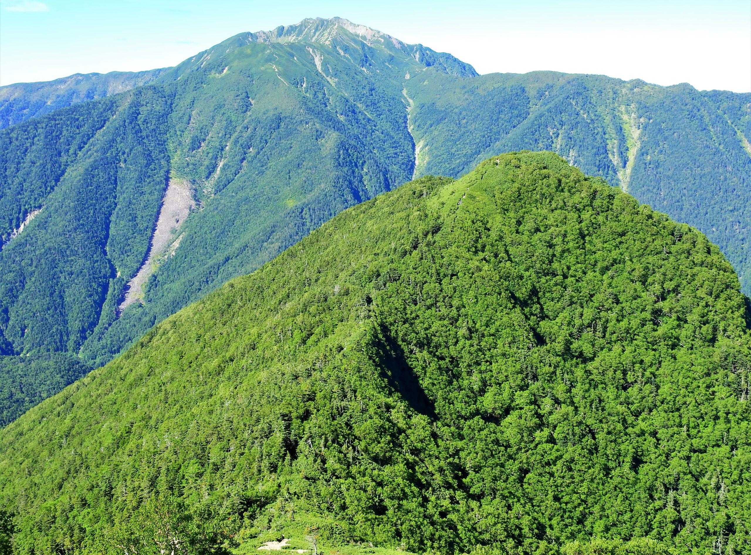 南アルプス 双児山