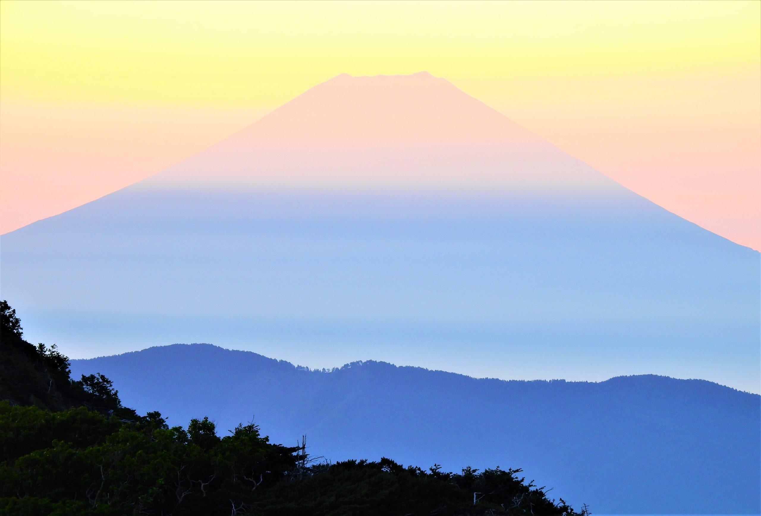 南アルプス 富士山