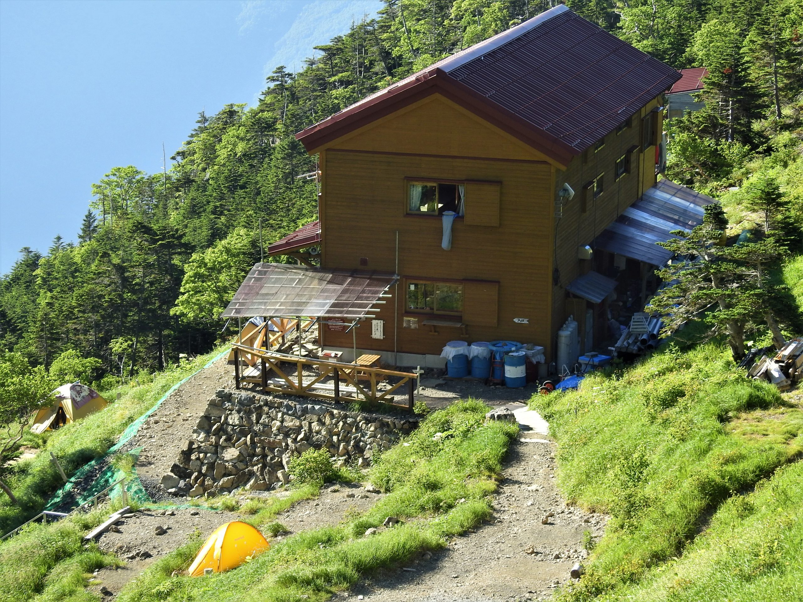 南アルプス 茶臼小屋