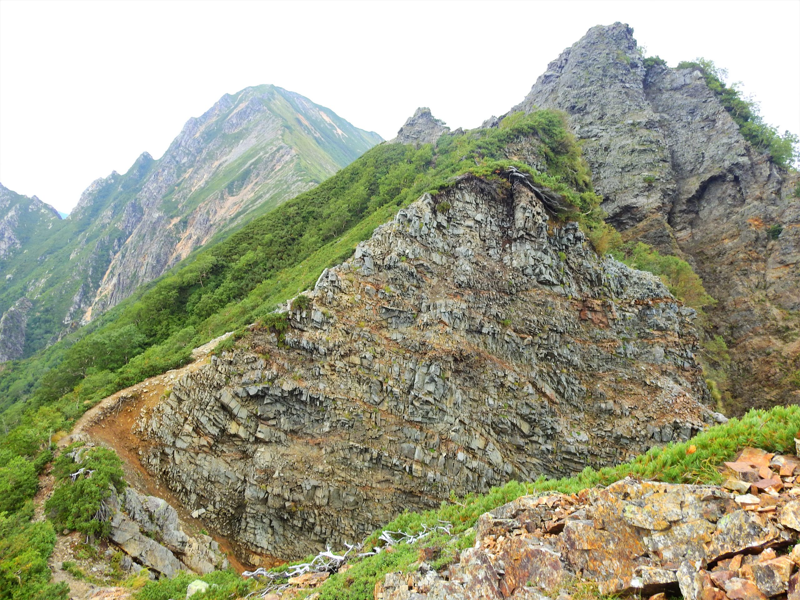 北アルプス 赤沢岳