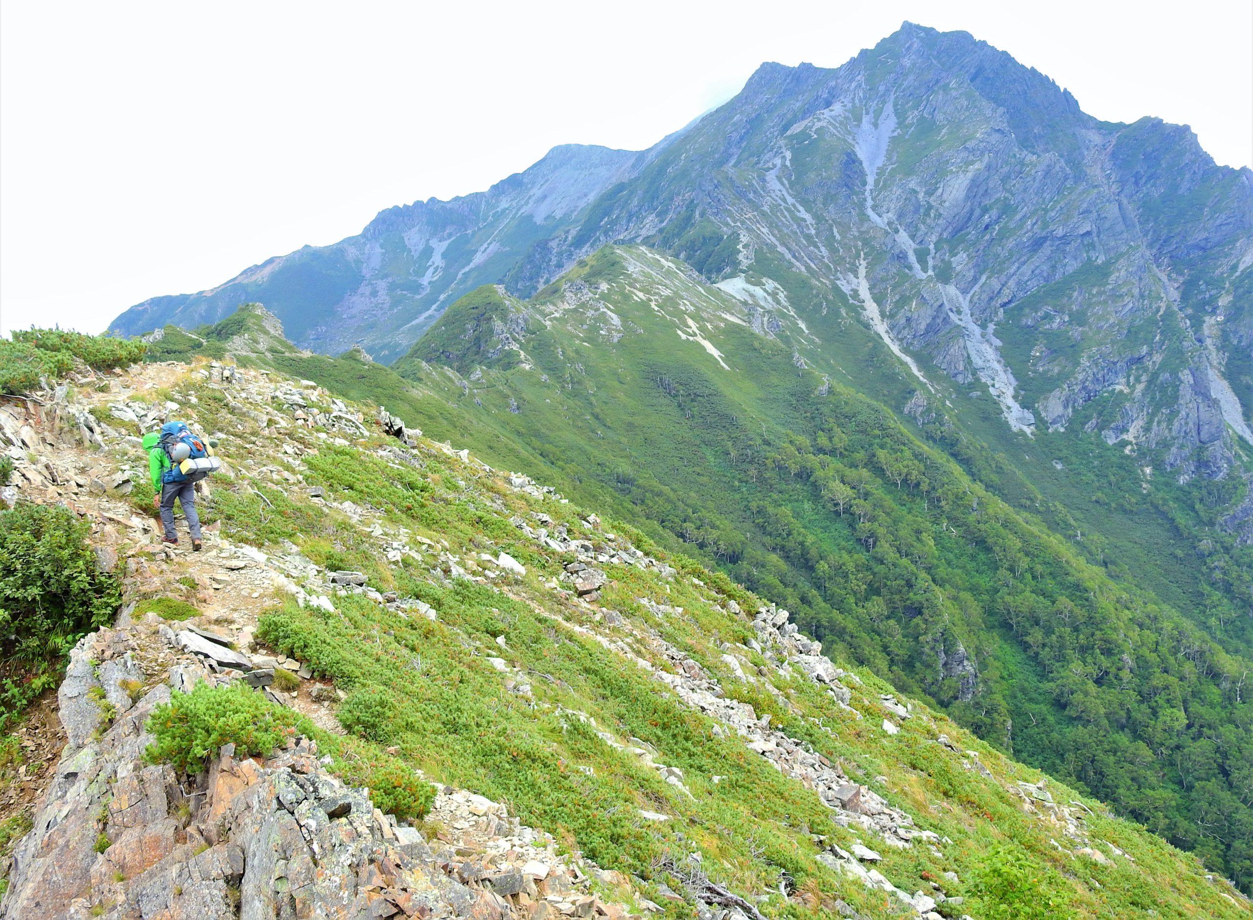 北アルプス 針木岳