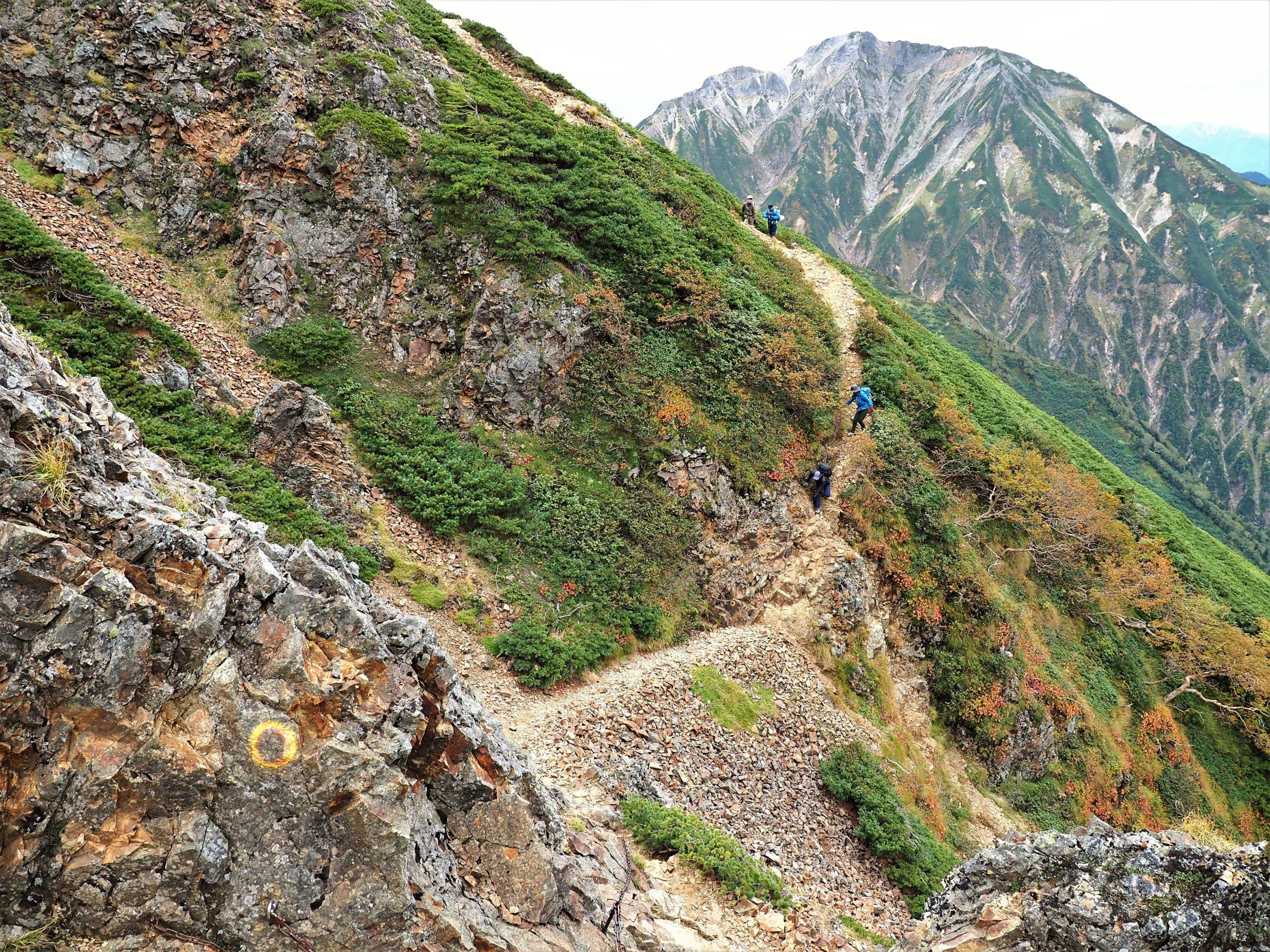 北アルプス 五竜岳