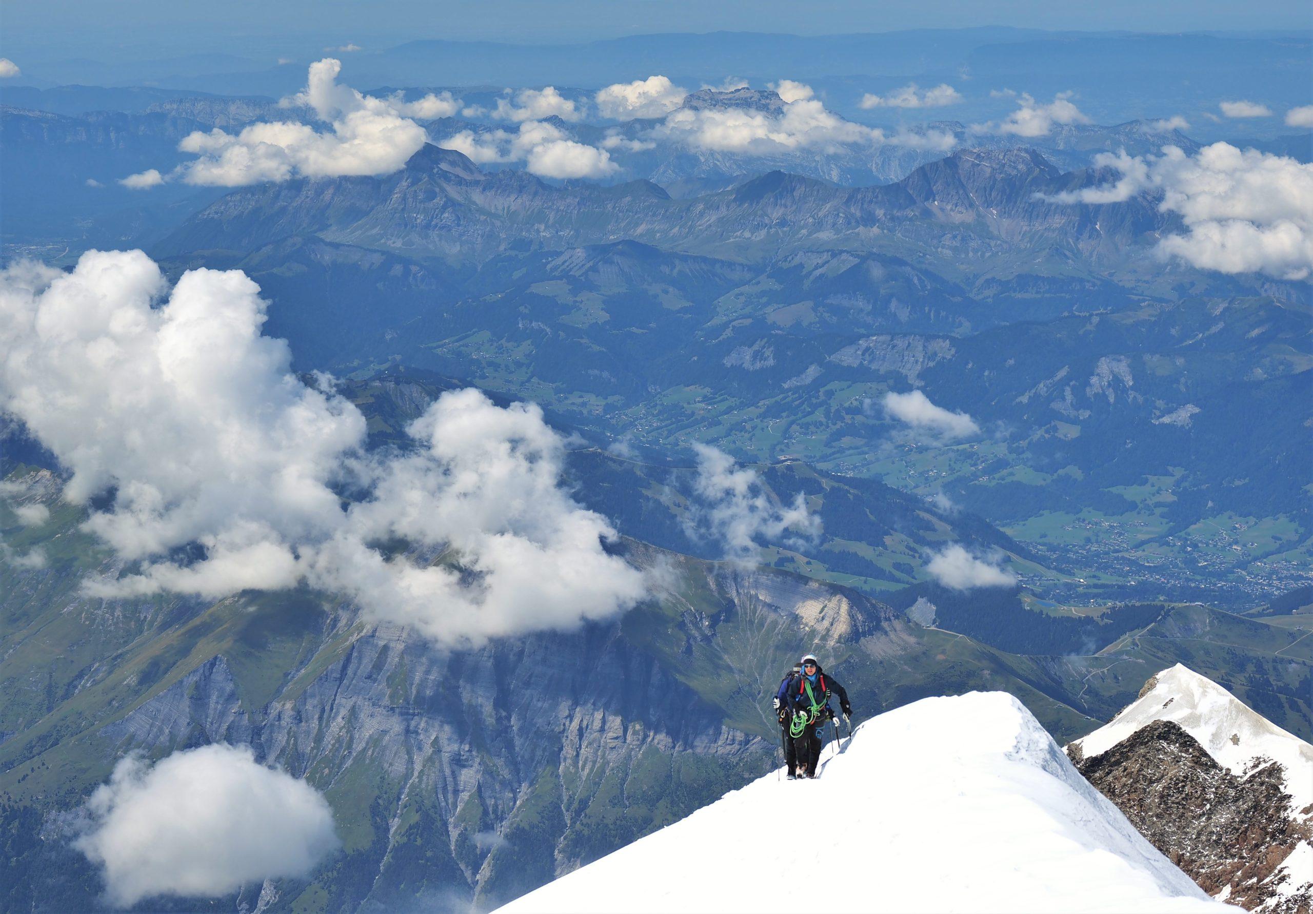 フランス モンブラン 頂上
