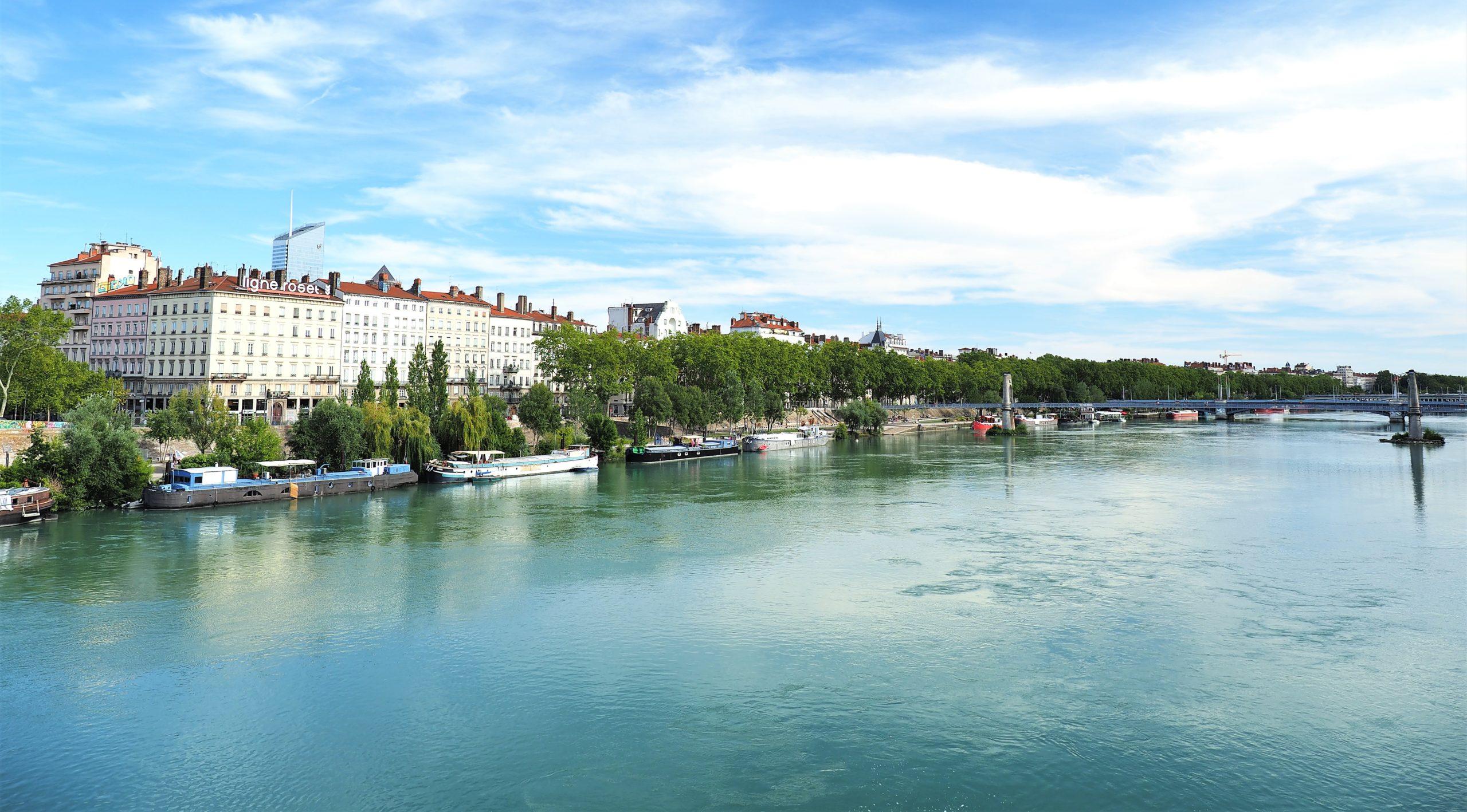 フランス リヨン ローヌ川
