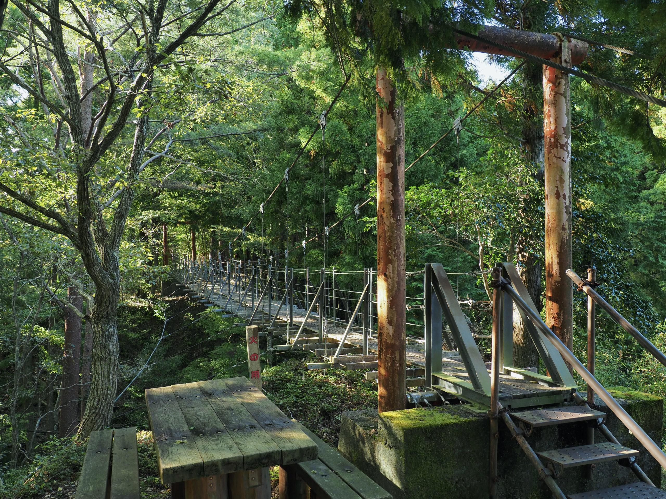 静岡県 西向の吊橋