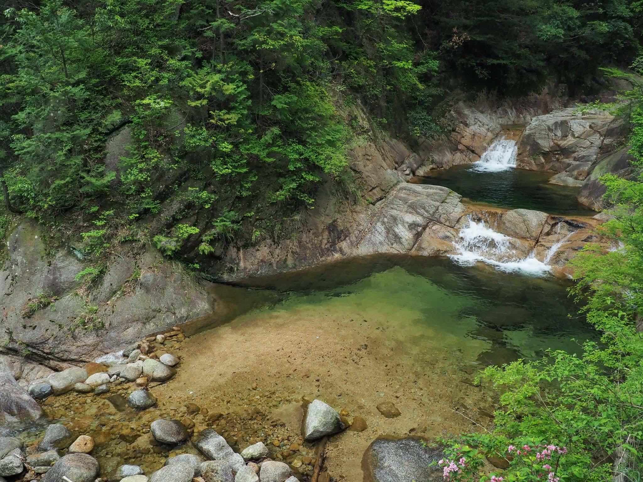 三重県 石水渓 東海自然歩道